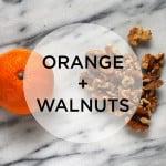 snack attack! orange + walnuts