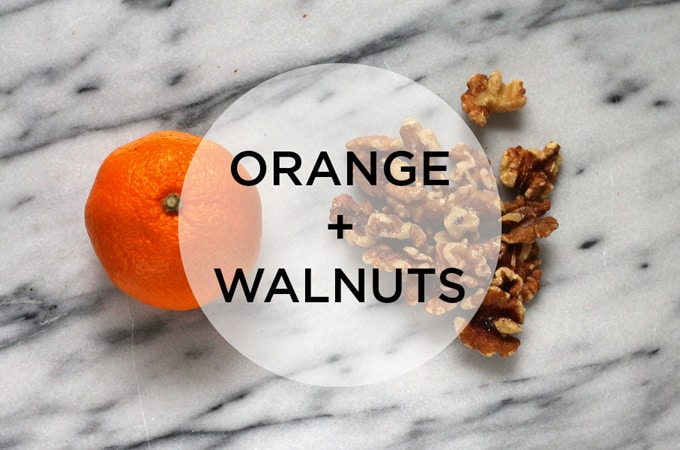 snack attack! orange + walnuts