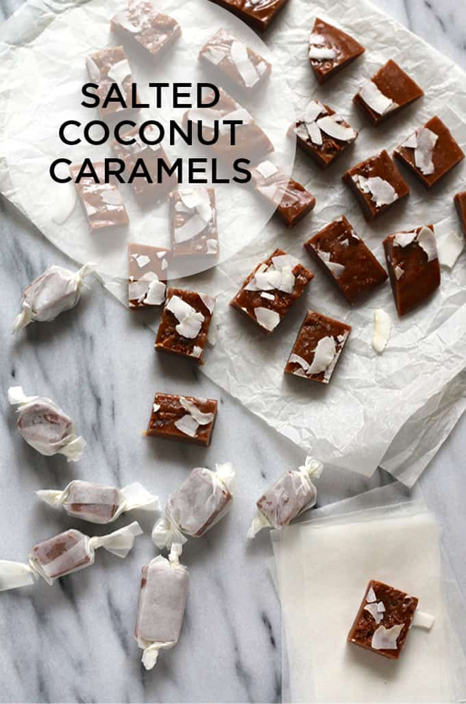 naturally sweetened totally vegan salted coconut caramels // www.heynutritionlady.com