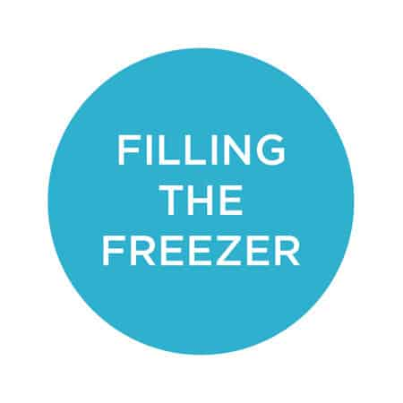 filling the freezer for when the baby arrives // themuffinmyth.com