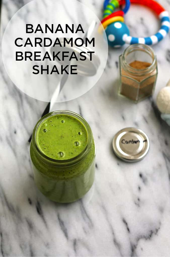 banana cardamom breakfast shake // www.heynutritionlady.com