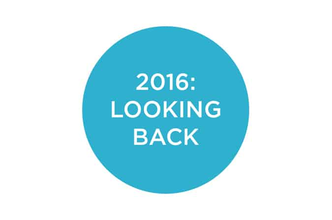 2016: looking back, looking forward