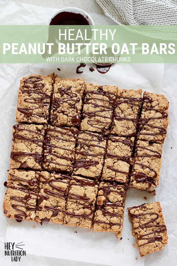 These Peanut Butter Oat Bars make a great snack or after school treat! Made with healthy ingredients, low in sugar, and vegan friendly, these are sure to hit the spot. #snack #healthy #peanutbutter #oats #oatbars #easy #vegan #lowsugar #wholewheat