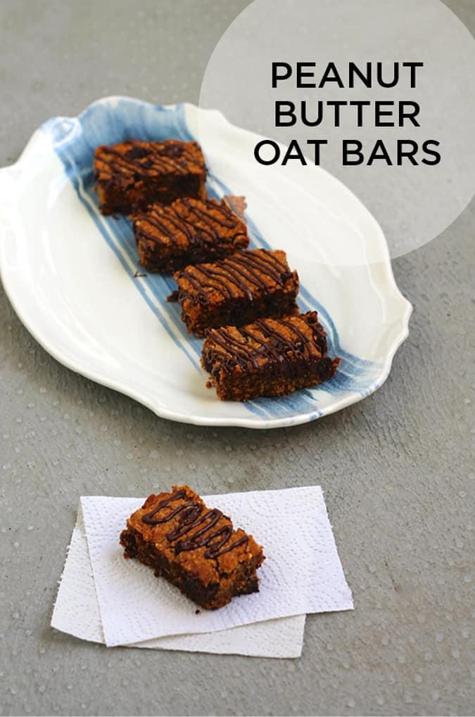 healthier peanut butter oat bars // www.themuffinmyth.com