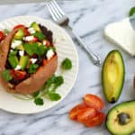 loaded sweet potatoes // www.www.heynutritionlady.com