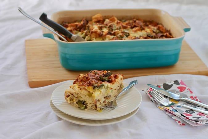asparagus + gruyère strata // www.heynutritionlady.com