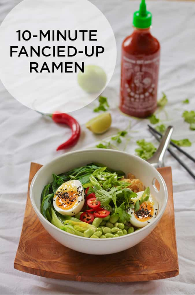 10-minute fancied up veggie ramen - perfect for quick and easy weeknight dinners! // themuffinmyth.com