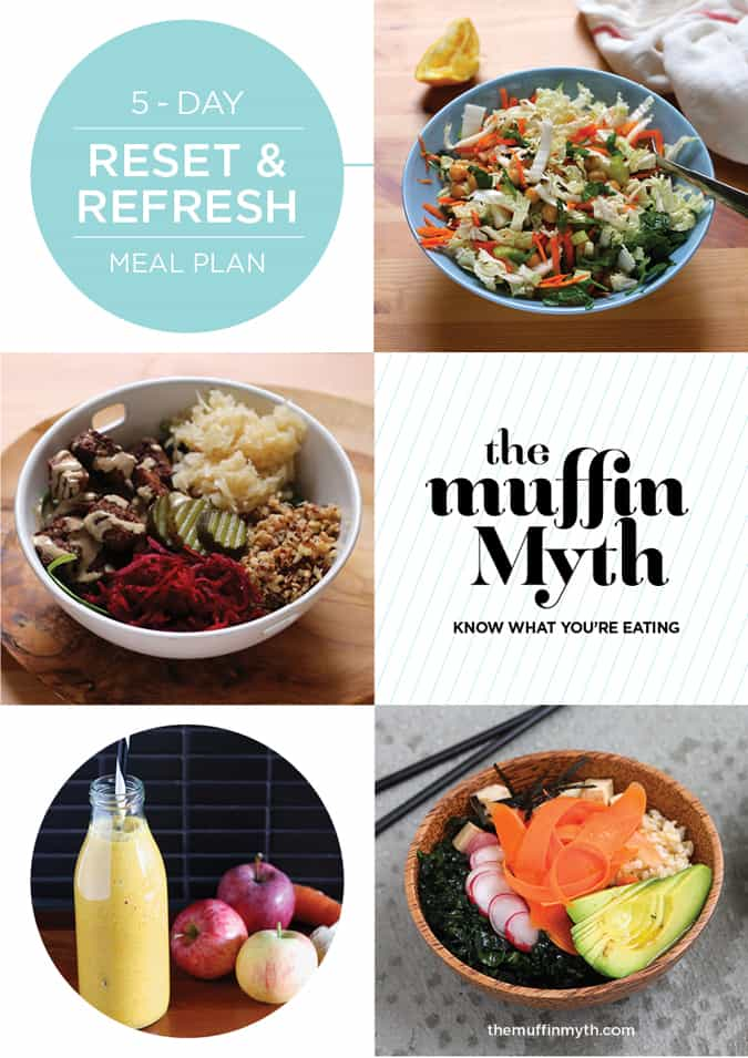 free five day reset and refresh meal plan from themuffinmyth.com