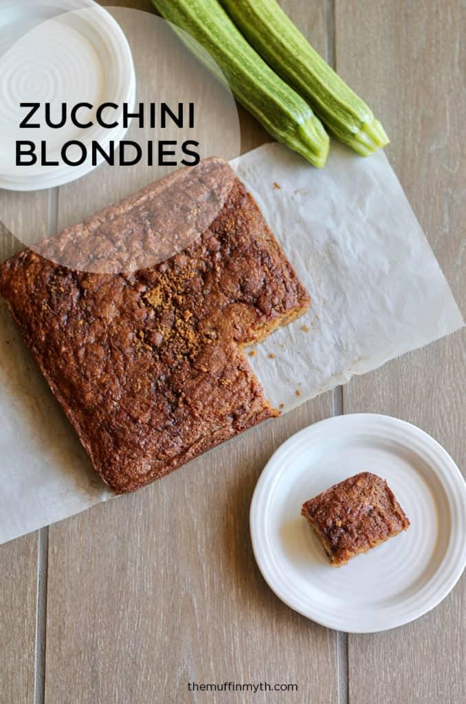 zucchini blondies // themuffinmyth.com
