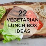 22 vegetarian lunch box ideas