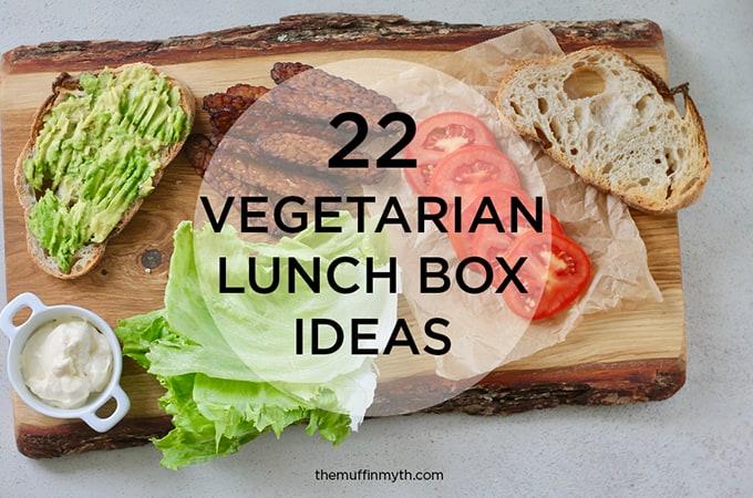 22 vegetarian lunch ideas // themuffinmyth.com