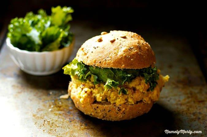 22 vegetarian lunch box ideas - vegan tuna sandwich