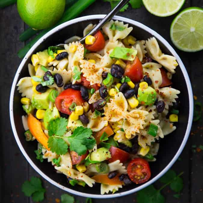 more vegetarian lunch ideas: southwestern pasta salad