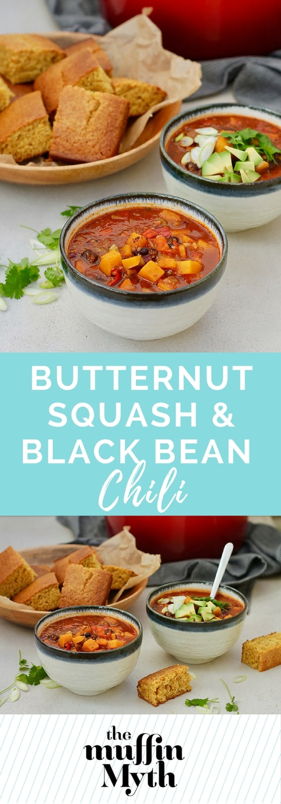 Butternut Squash and Black Bean Chili with quinoa // www.heynutritionlady.com #vegan #chili #butternutsquash