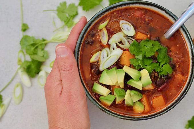 Butternut Squash and Black Bean Chili - The Muffin Myth