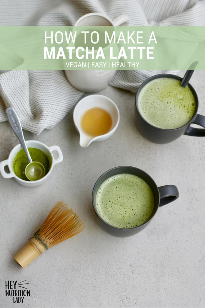 Learn how to make a matcha latte at home with easy step by step instructions. This recipe doesn't require any fancy equipment, is easily vegan, and is super healthy. It's easy to make a homemade matcha latte! #recipe #DIY #healthy #easy #homemade #matcha #latte #drinks #warmdrinks #tea #vegan