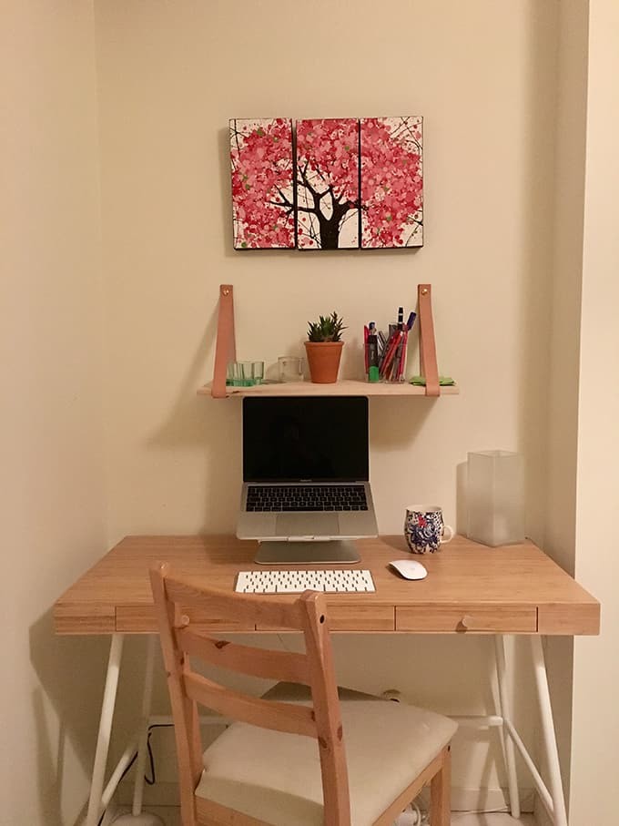 changing to a home office // www.heynutritionlady.com