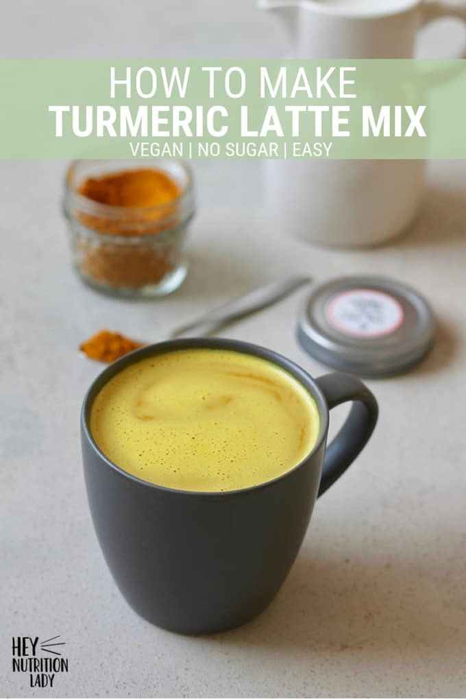 This easy Turmeric Latte Mix is the perfect way to make healthy golden milk at home. This mix is vegan, dairy-free, and doesn't contain any sweetener, so it's perfect for making a DIY turmeric latte just the way you like it! Great for homemade gifts as well. #turmericlatte #recipe