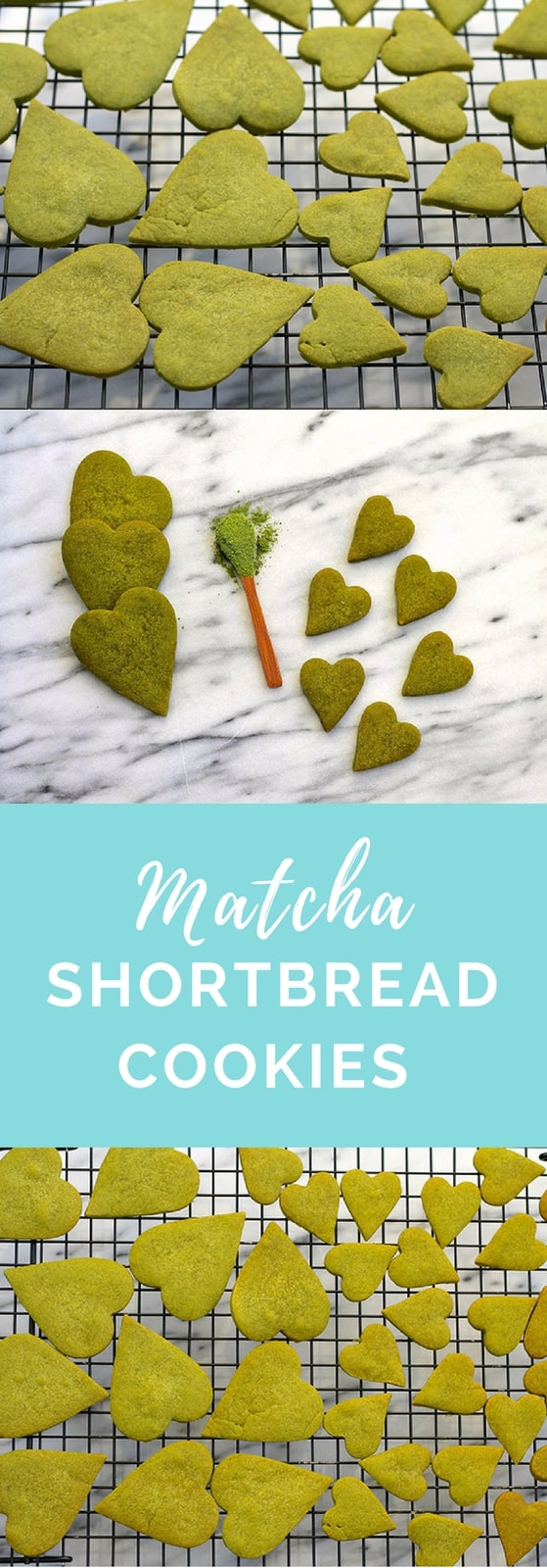 Matcha Shortbread Cookies! Perfect for St. Patrick's Day or any time of year, really. The vibrant green colour comes naturally thanks to matcha green tea powder, which gives a delicate flavour perfect for shortbread. #recipes #cookies #baking #matcha #green #tea