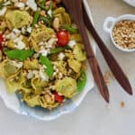 Tortellini Pasta Salad with Burst Tomatoes and Green Beans
