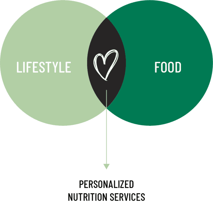 nutrition services diagram from hey nutrition lady