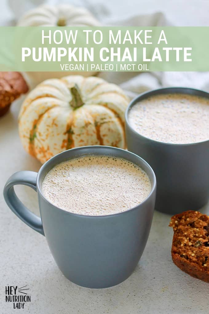 Save your money and make a delicious Pumpkin Chai Latte at home! Made with real pumpkin, seasonal spices, and naturally sweetened with maple syrup, this chai latte is vegan, easy, and healthy. #pumpkin #chailatte