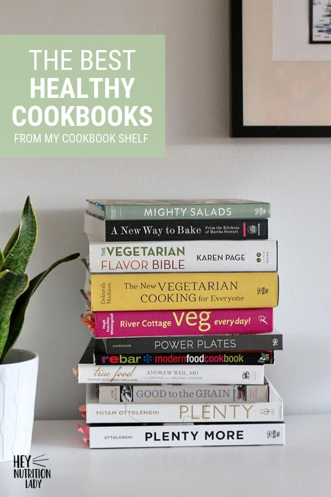 My Favourite Healthy Cookbooks - a roundup of old favourites and new finds for easy, delicious, healthy vegetarian cooking. #vegetarian #healthycookbooks