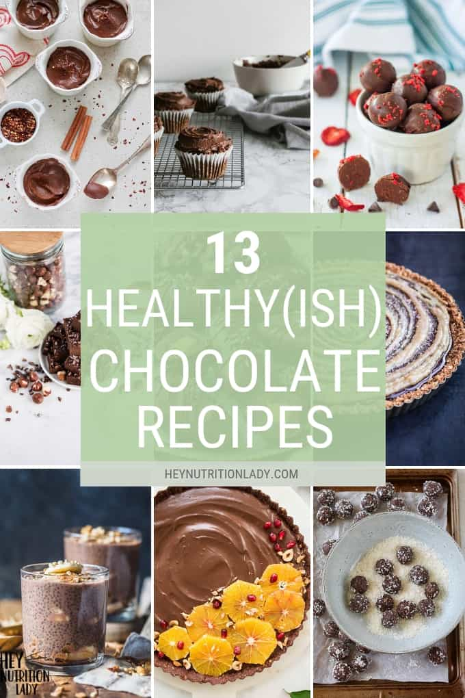 Looking for something sweet to make for a special someone? Even if that special someone is you! Here's a collection of healthy(ish) chocolate desserts to choose from! Includes recipes that are easy, vegan, paleo, gluten-free, and naturally sweetened.#chocolatedesserts #healthydessertrecipes