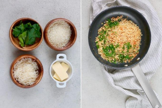 panko breadcrumbs seasoned with parmesan and parsley