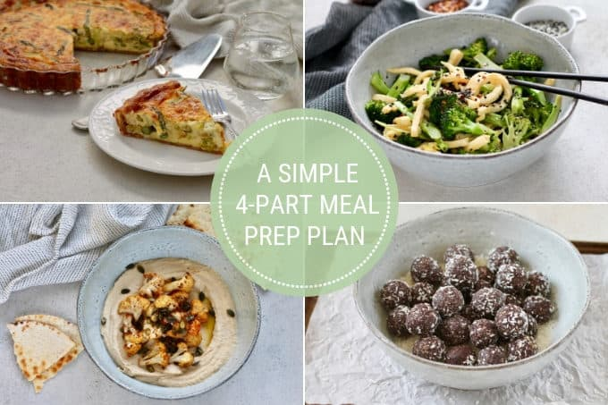 photo collage for a simple meal prep plan
