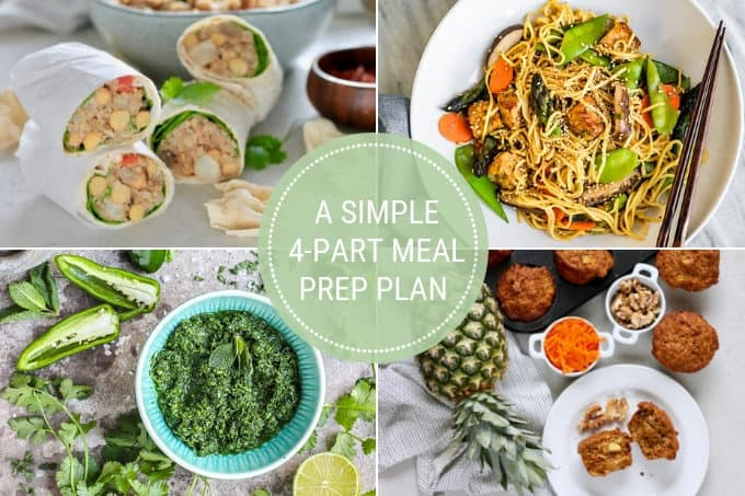 photo collage for a 4-part meal plan