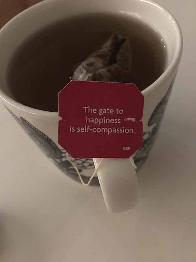 If my tea says it then it must be true