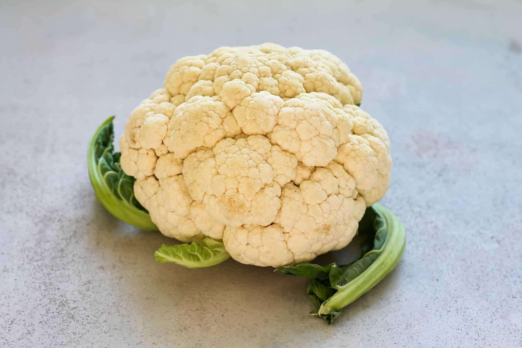 cauliflower on a grey background