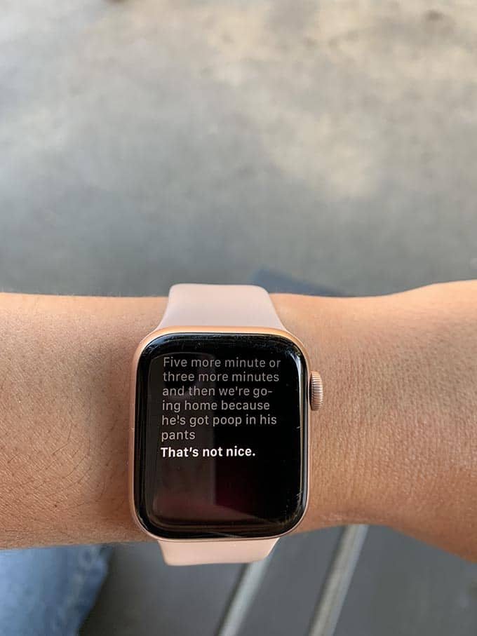photo of an apple watch on a woman's wrist
