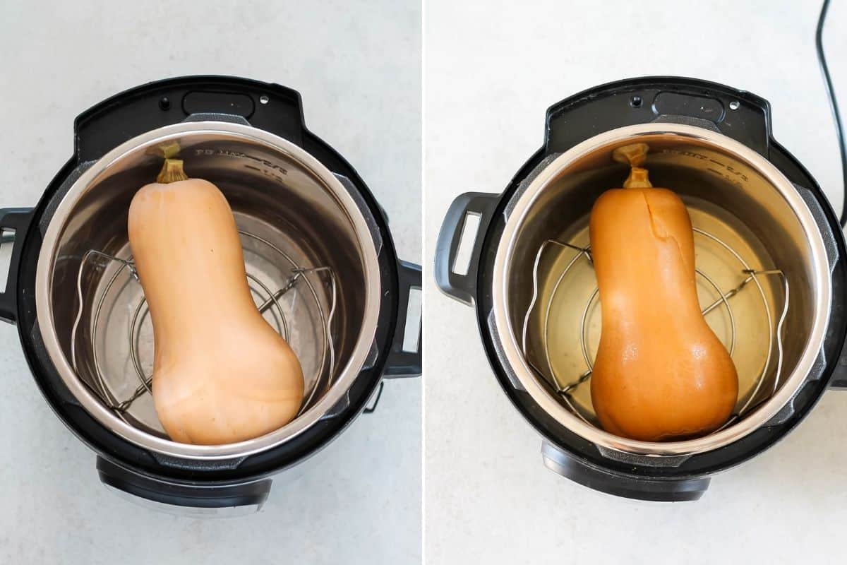 a whole butternut squash in the instant pot