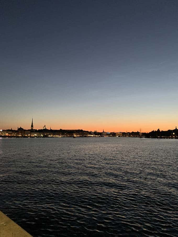 sunset in stockholm in July